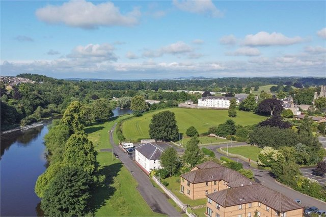 The first-floor property is a stone's throw from the River Tweed.
