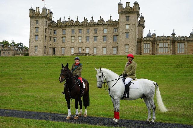 Paul and Katriona Goode return to historic Floors Castle to celebrate their silver wedding anniversary