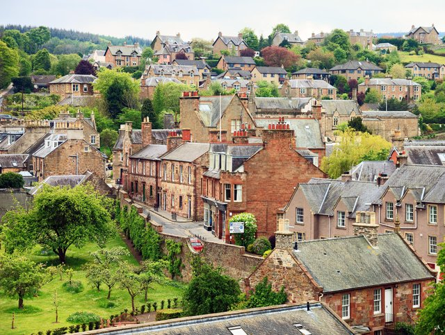 Melrose has been named as the third most tranquil place in the UK.