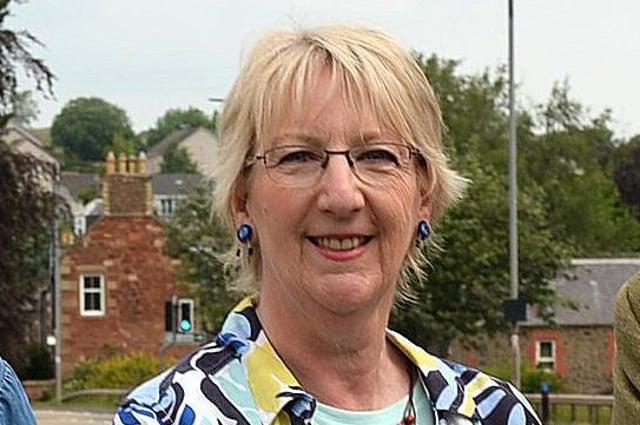 Earlston community council secretary Sheila Gibb.