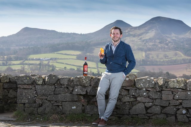Dominic Tait with the backdrop of the Eildons, near Melrose in the Scottish Borders. (Photo: Kirsty Anderson)