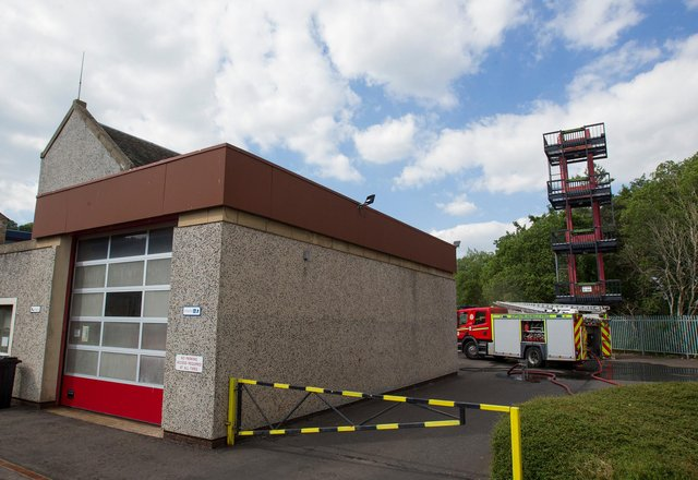 Fire at Jedburgh Fire Station was attended to by a Hawick fire crew. (Photo: BILL McBURNIE)