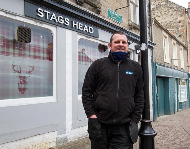 Plumber-turned publican Dean McCracken at the Stags Head.