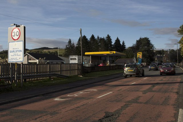 The A68 south of Earlston will be closed during night-time hours on Monday.