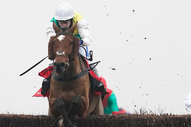 Cloth Cap, one of the runners at Kelso this Saturday, pictured winning the Ladbrokes Trophy Chase at Newbury Racecourse in Berkshire on November 28, 2020 (Photo by Alan Crowhurst/Getty Images)
