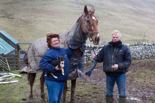 'A true gentleman of a horse' - Yetholm trainer Sandy Forster's memory of Claude And Goldie, who sadly died after Sunday's Scottish Grand National at Ayr. With them, right, is  Clive Storey.