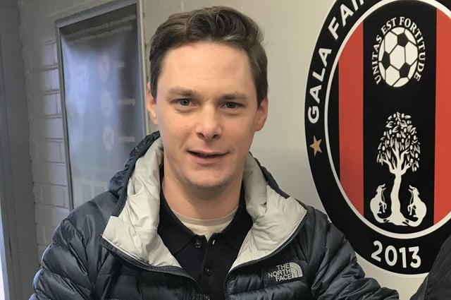 Gala Fairydean Rovers chairman Ryan Cass