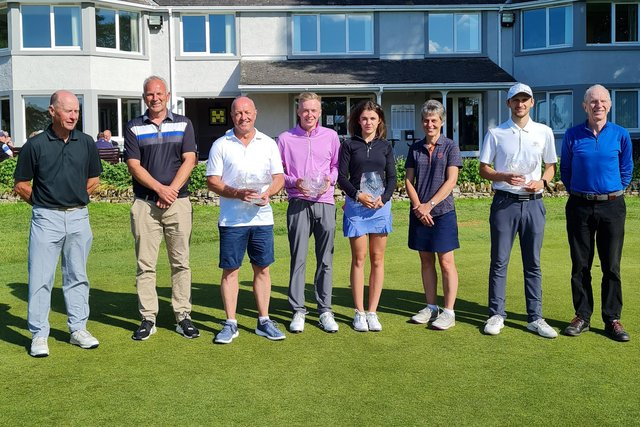 The eight finalists from Roxburghe GC's club championship are pictured