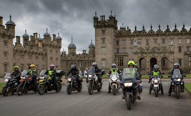 BGAM bikers at Floors Castle.