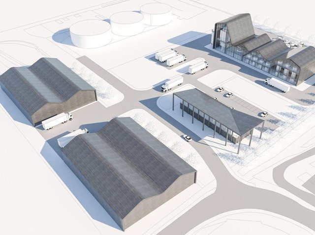 How the new distillery would look.
