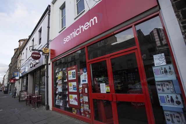 Semichem in Hawick High Street.