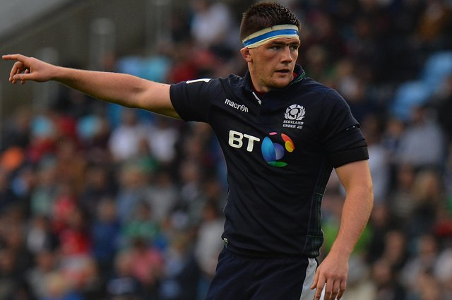 Ally Miller playing for Scotland under-20s against England in 2016 in Manchester (Photo by Tony Marshall/Getty Images)