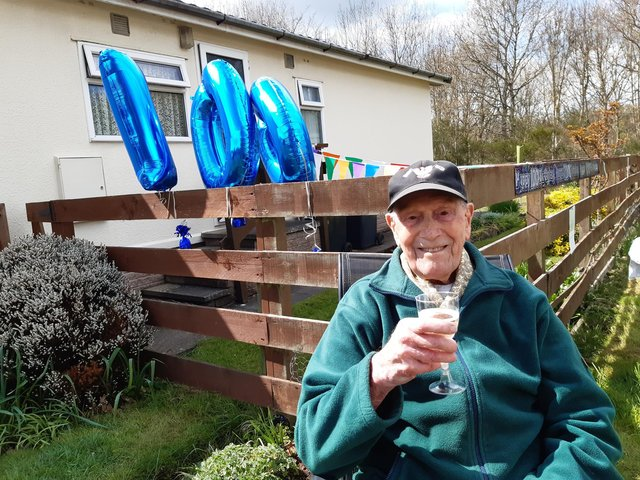 Springwood Village resident George Trigg, who ran messages to Field Marshall Montgomery during the war, was 100 on Friday.