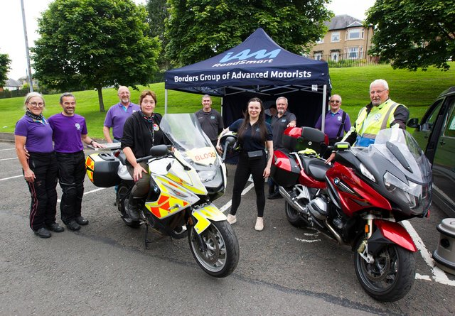 Borders Group of Advanced Motorcyclists at Hawick open day.  (Photo: BILL McBURNIE)
