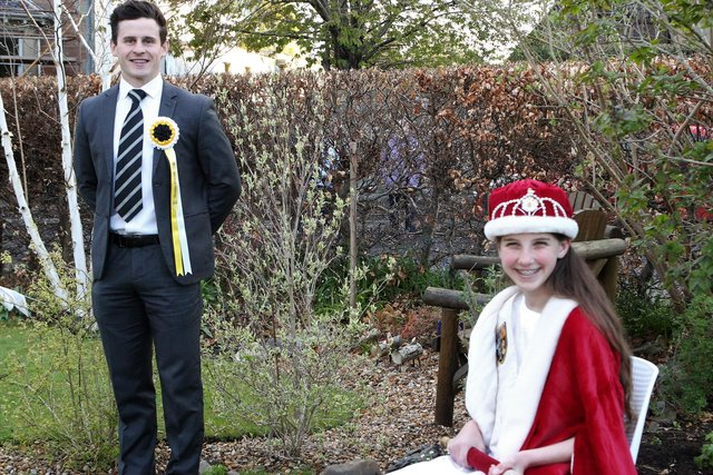 2020 Festival Queen Lucy Whiting with Melrosian Elect Douglas Crawford. Photo: Douglas Hardie.
