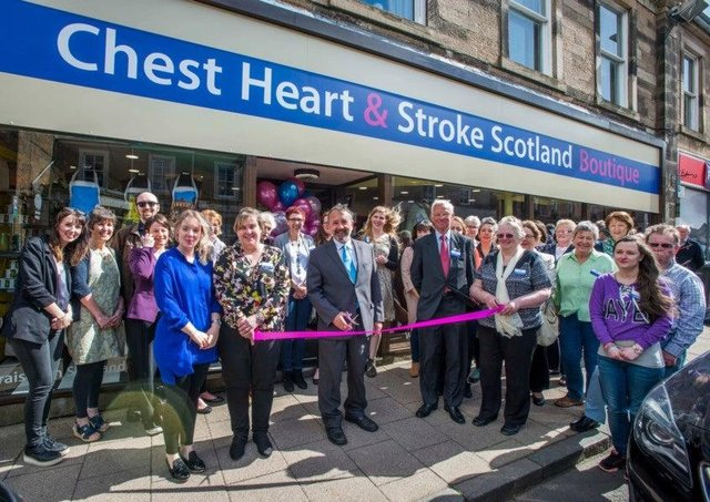 The opening of the Melrose Chest Heart & Stroke shop in 2018.