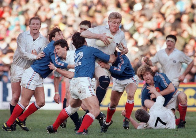 John Jeffrey in action for Scotland against France at Murrayfield in the Grand Slam-winning year of 1990. (Photo: STF/AFP via Getty Images)