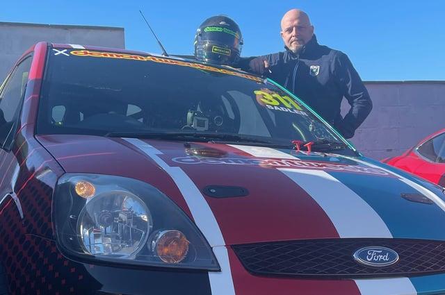 Eyemouth driver Steve Sadler with his Ford Fiesta