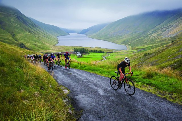 The cycling event is held on closed roads in the Borders region. Photo: Ian Linton.