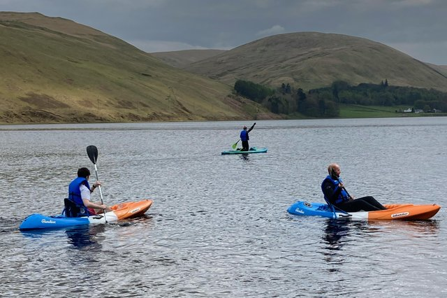The three gents from the city came down on the train and spent a couple of hours on the loch.