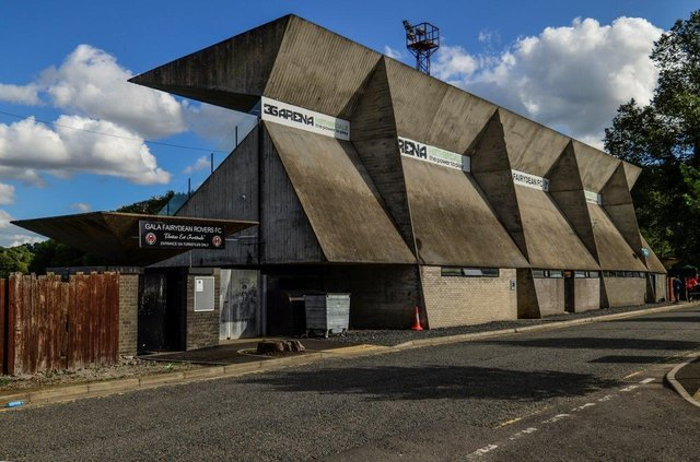 Gala Fairydean Rovers FC stand.