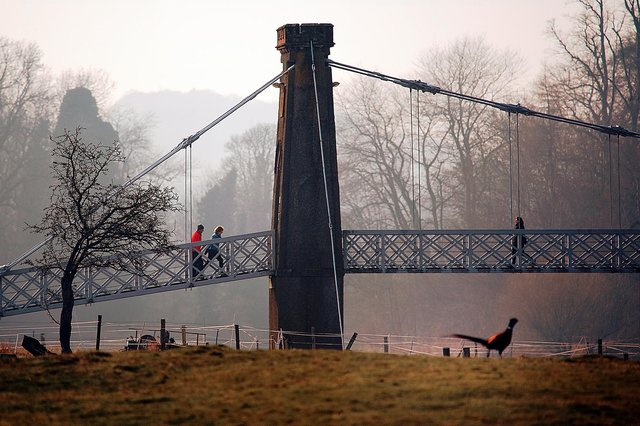 """Activists will meet at the chain bridge in Melrose before having a """"mock dinner"""" in the river. Photo: Dr Dennis Connolly."""