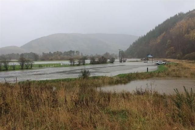 Flooding in Innerleithen back in 2009.