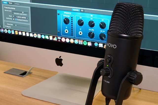 The professional-looking Movo microphone is made of robust metal. Image: Movo