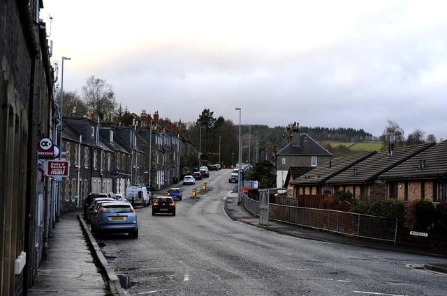 Wood Street in Galashiels.